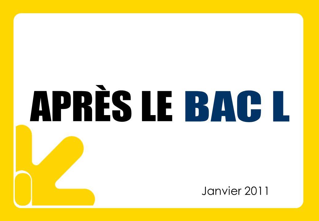 APRÈS LE BAC L Janvier 2011