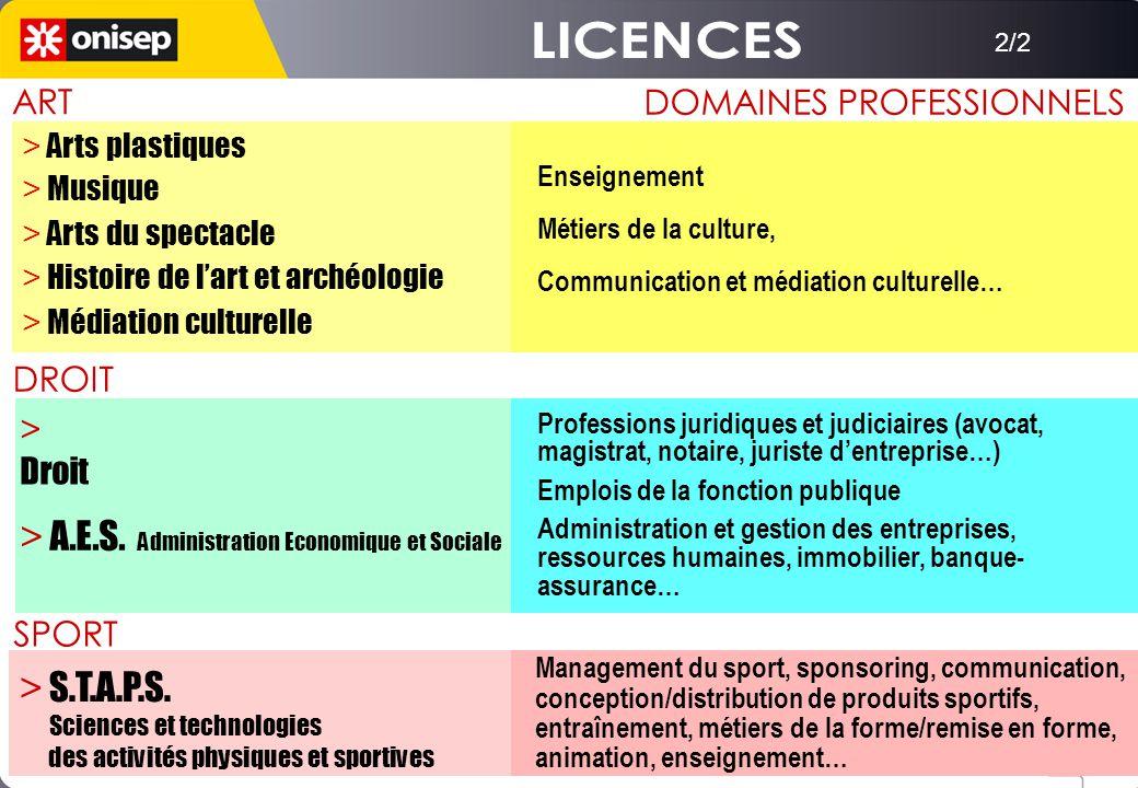 DOMAINES PROFESSIONNELS