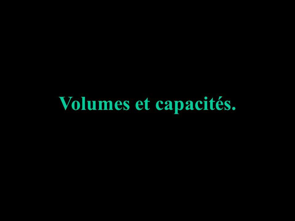 Volumes et capacités.