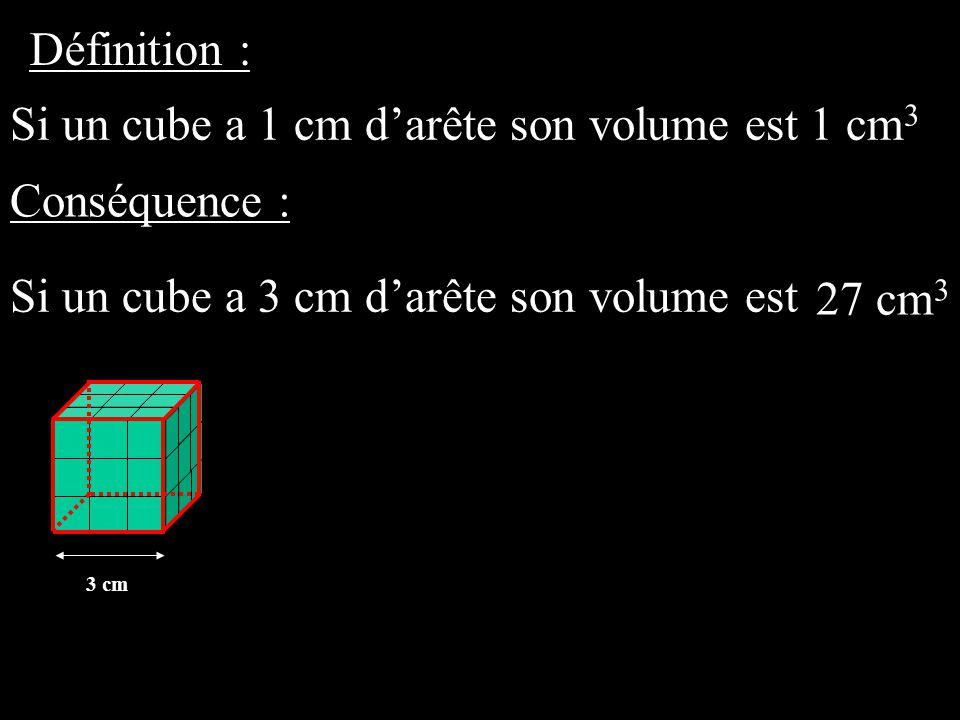 Si un cube a 1 cm d'arête son volume est 1 cm3