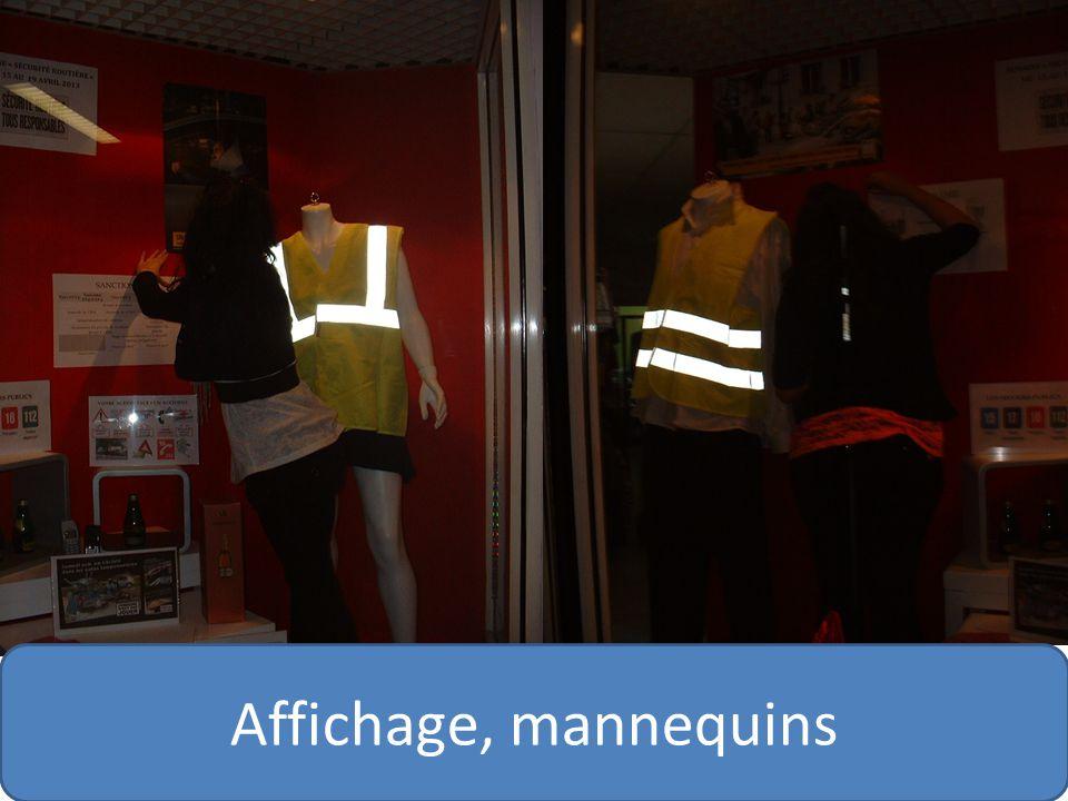 Affichage, mannequins