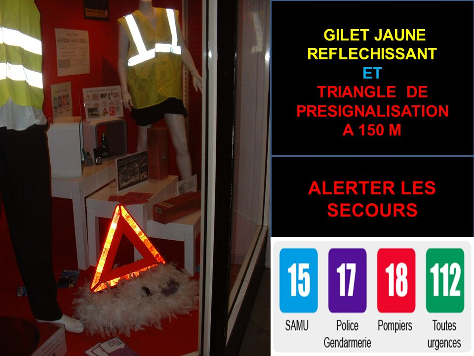 GILET JAUNE REFLECHISSANT TRIANGLE DE PRESIGNALISATION