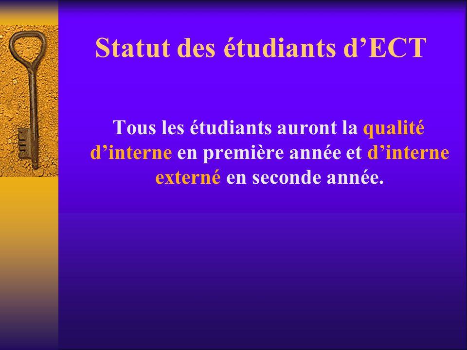 Statut des étudiants d'ECT