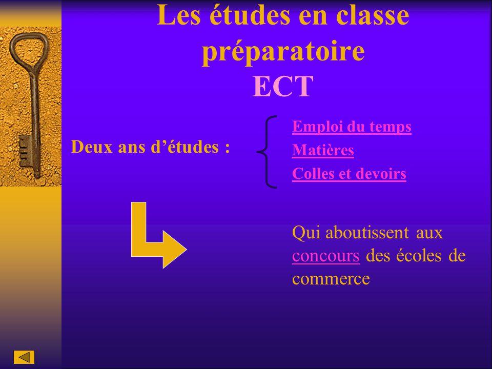 Les études en classe préparatoire ECT