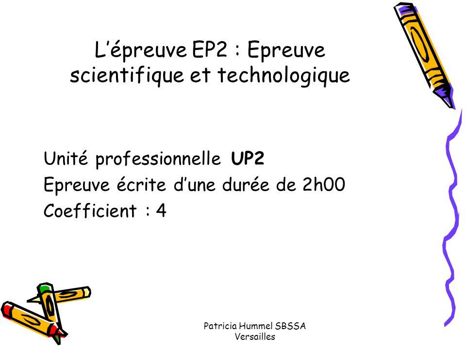L'épreuve EP2 : Epreuve scientifique et technologique