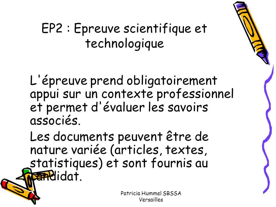 EP2 : Epreuve scientifique et technologique