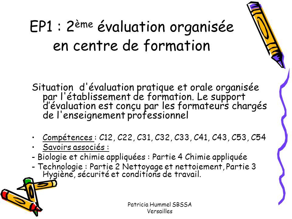 EP1 : 2ème évaluation organisée en centre de formation