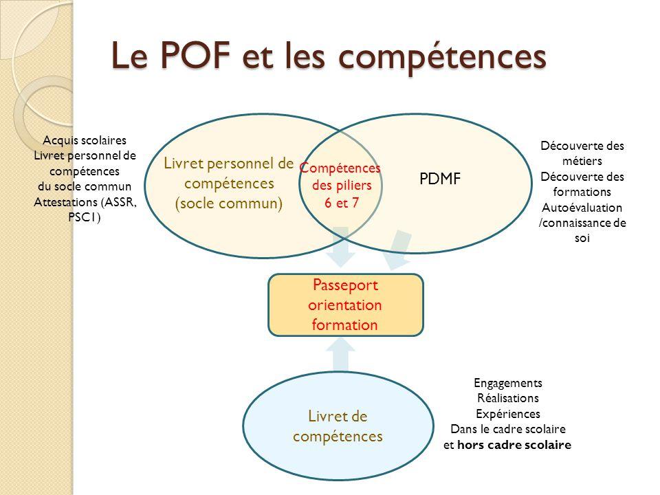 Le POF et les compétences