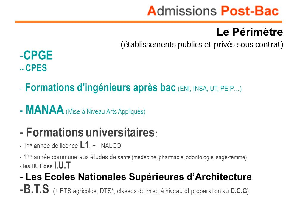 - Formations universitaires :