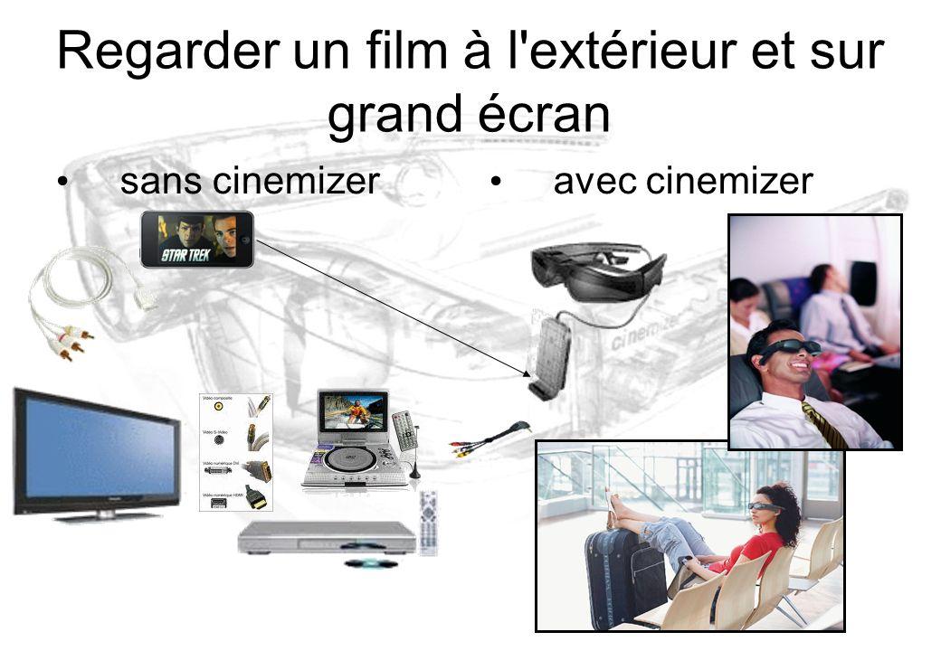 Regarder un film à l extérieur et sur grand écran