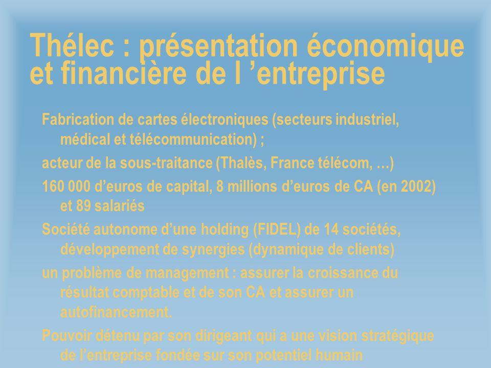 Thélec : présentation économique et financière de l 'entreprise