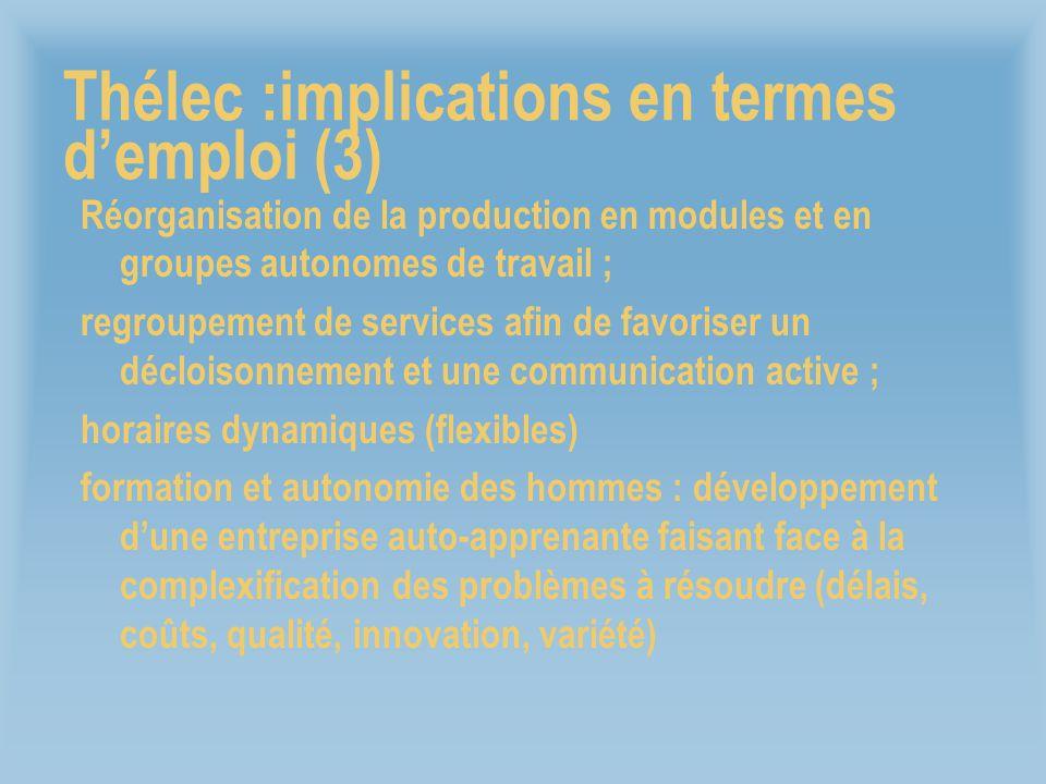 Thélec :implications en termes d'emploi (3)