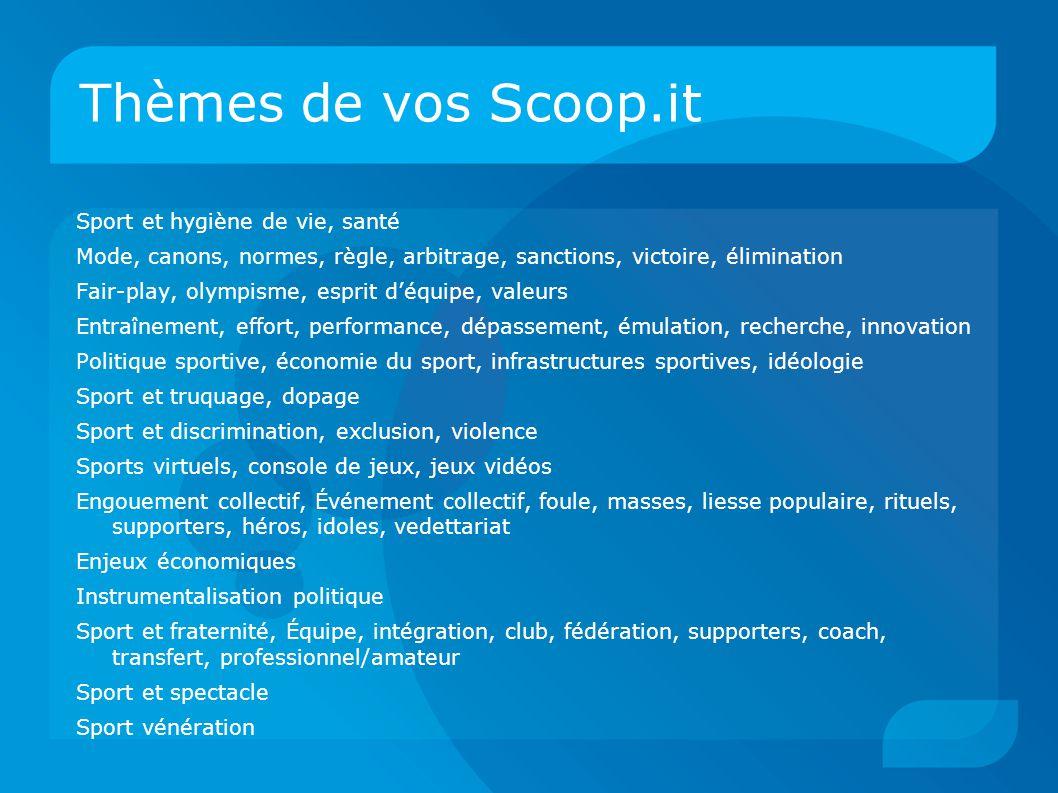 Thèmes de vos Scoop.it Sport et hygiène de vie, santé