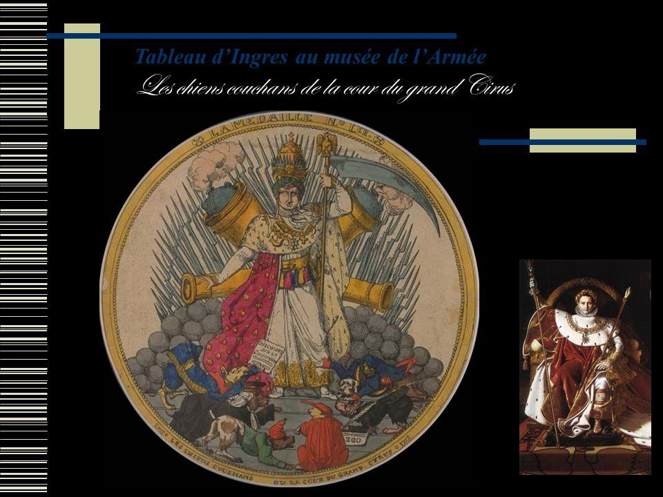 Tableau d'Ingres au musée de l'Armée Les chiens couchans de la cour du grand Cirus
