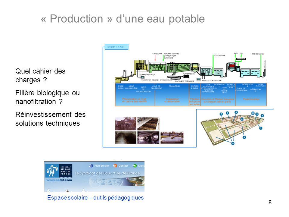 « Production » d'une eau potable