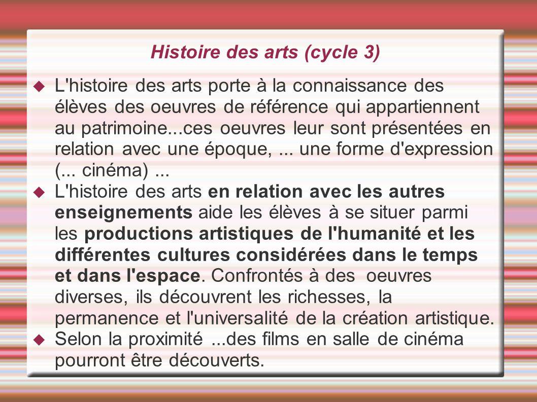 Histoire des arts (cycle 3)