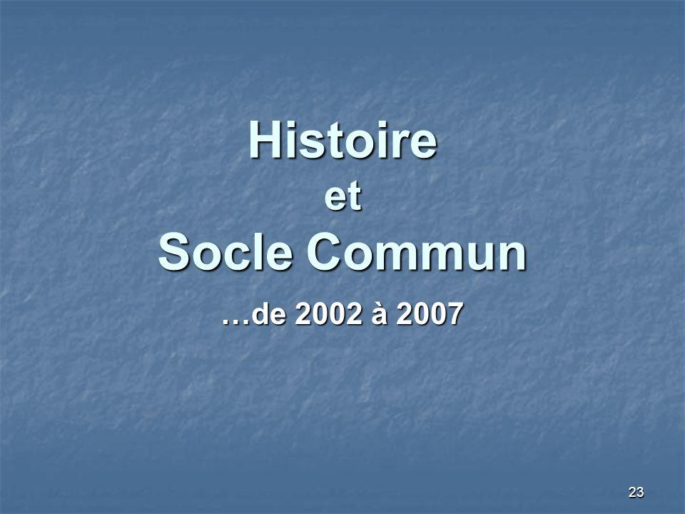 Histoire et Socle Commun