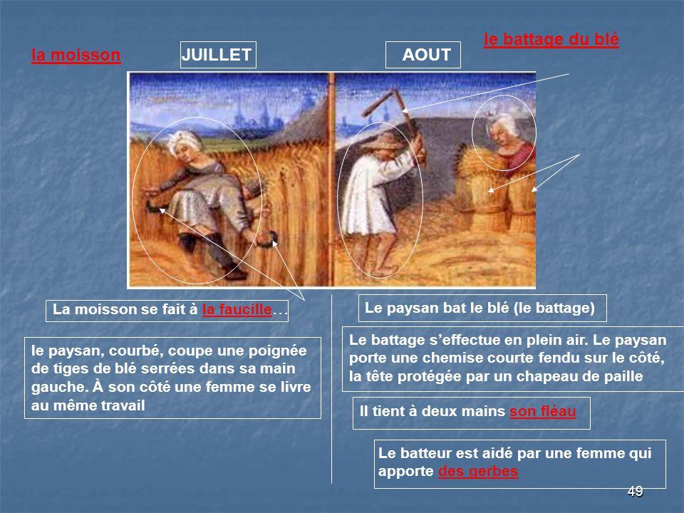 le battage du blé la moisson JUILLET AOUT
