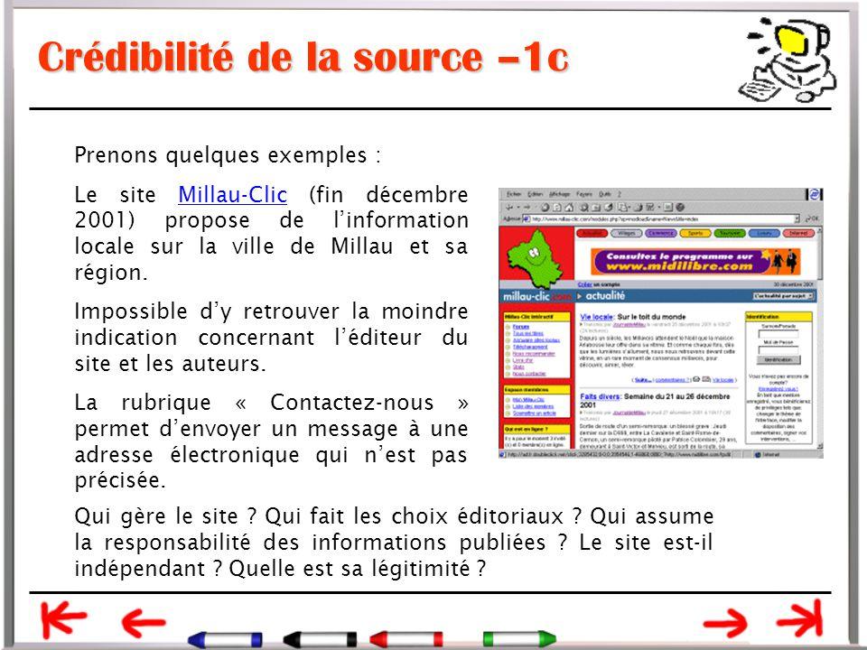 Crédibilité de la source –1c