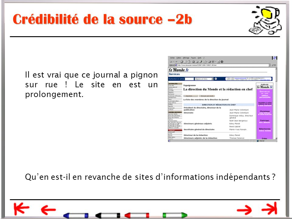 Crédibilité de la source –2b