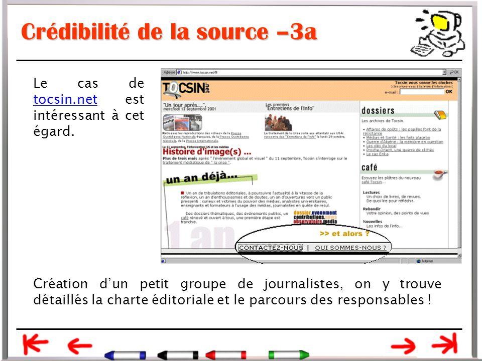 Crédibilité de la source –3a