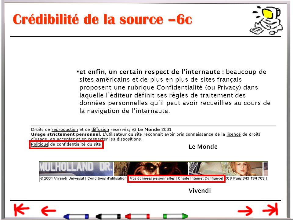 Crédibilité de la source –6c