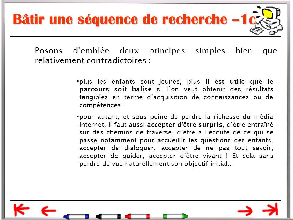 Bâtir une séquence de recherche –1c