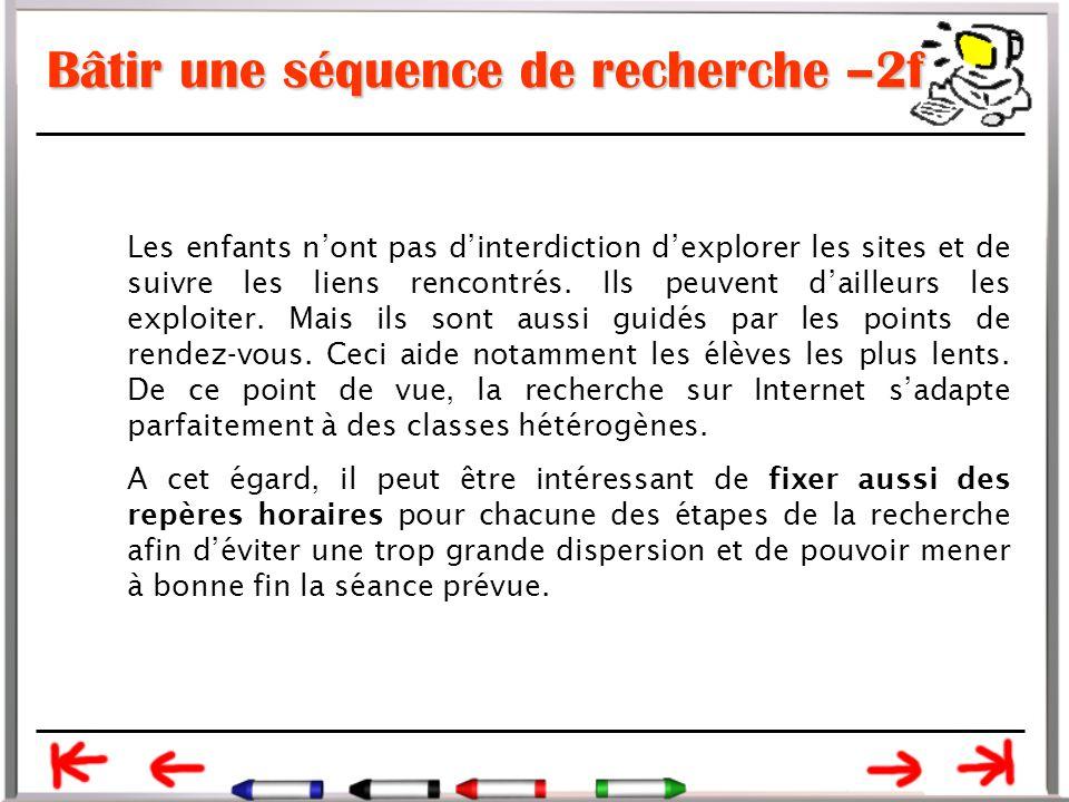 Bâtir une séquence de recherche –2f