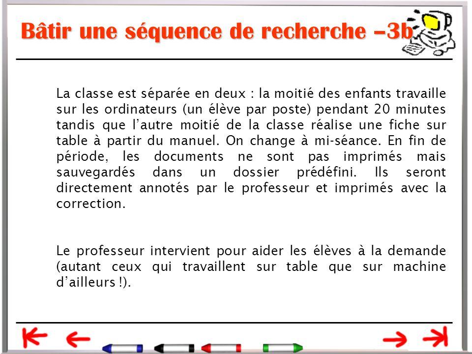 Bâtir une séquence de recherche –3b