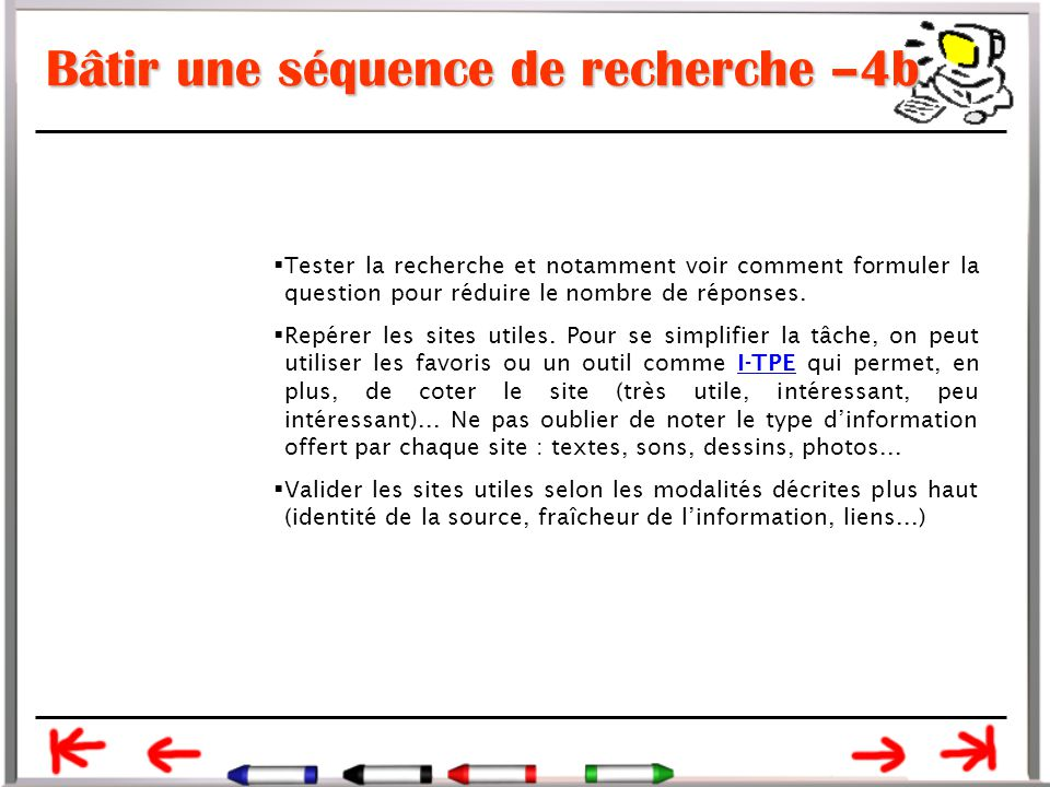 Bâtir une séquence de recherche –4b