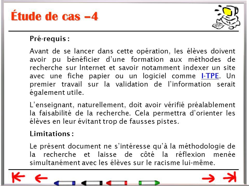 Étude de cas –4 Pré-requis :