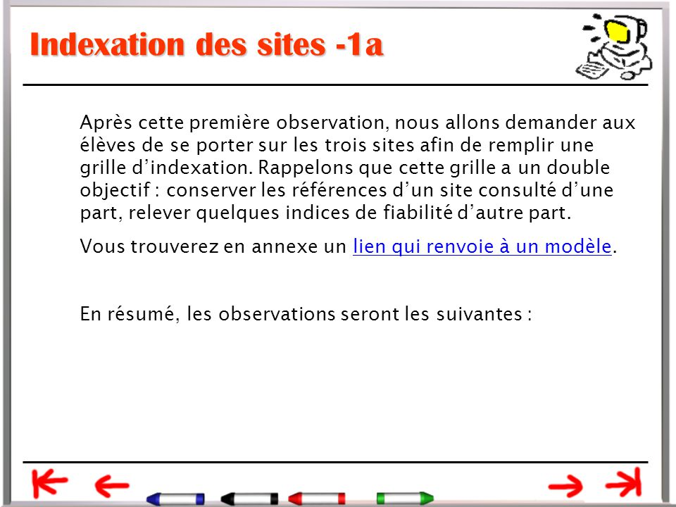 Indexation des sites -1a