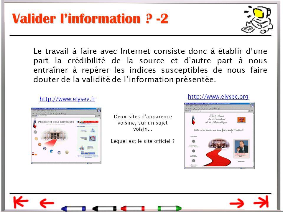 Valider l'information -2