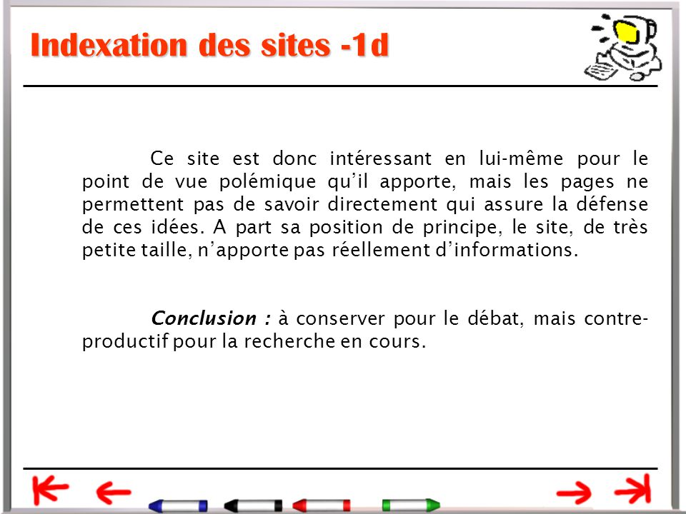 Indexation des sites -1d
