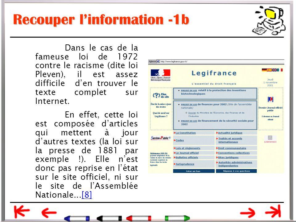 Recouper l'information -1b