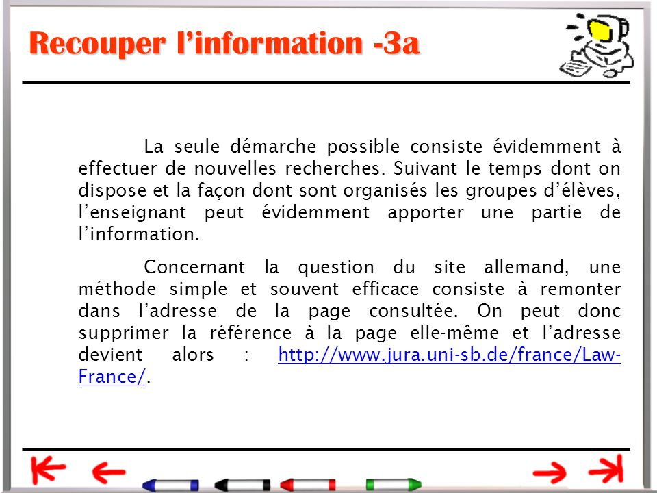 Recouper l'information -3a