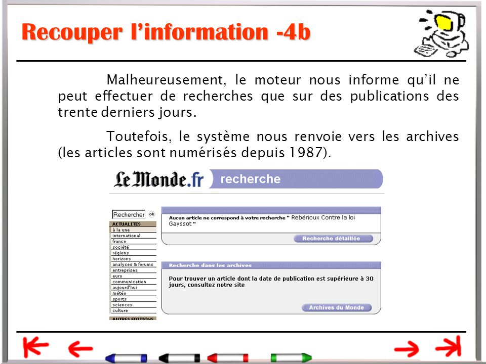 Recouper l'information -4b
