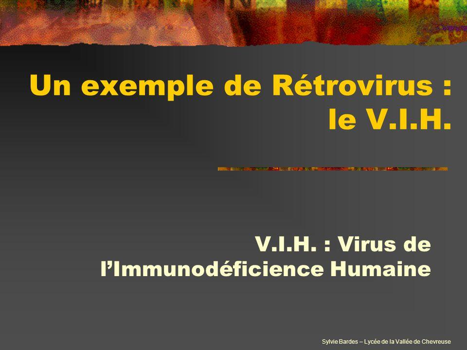 Un exemple de Rétrovirus : le V.I.H.
