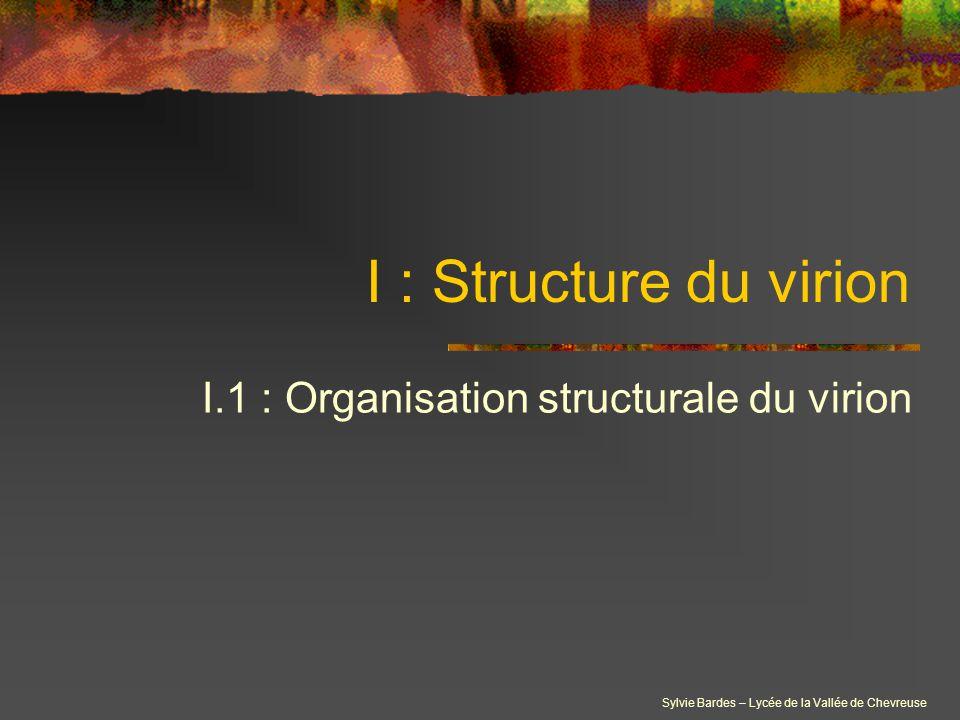 I.1 : Organisation structurale du virion