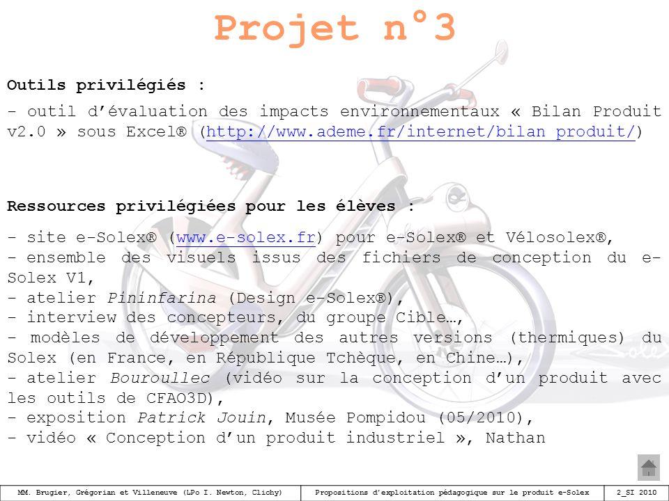 Projet n°3 Outils privilégiés :