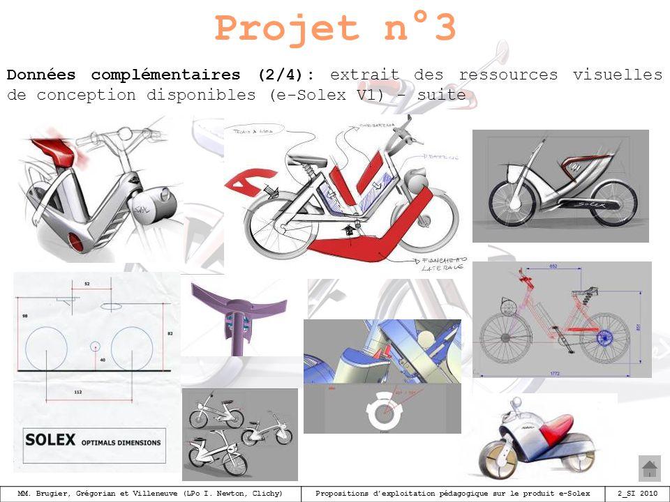 Projet n°3 Données complémentaires (2/4): extrait des ressources visuelles de conception disponibles (e-Solex V1) - suite.