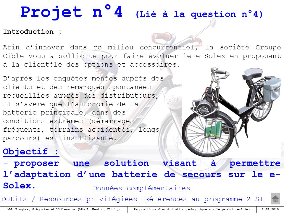 Projet n°4 (Lié à la question n°4)