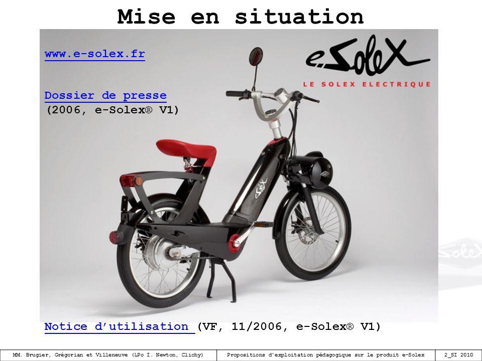 Mise en situation www.e-solex.fr Dossier de presse (2006, e-Solex® V1)