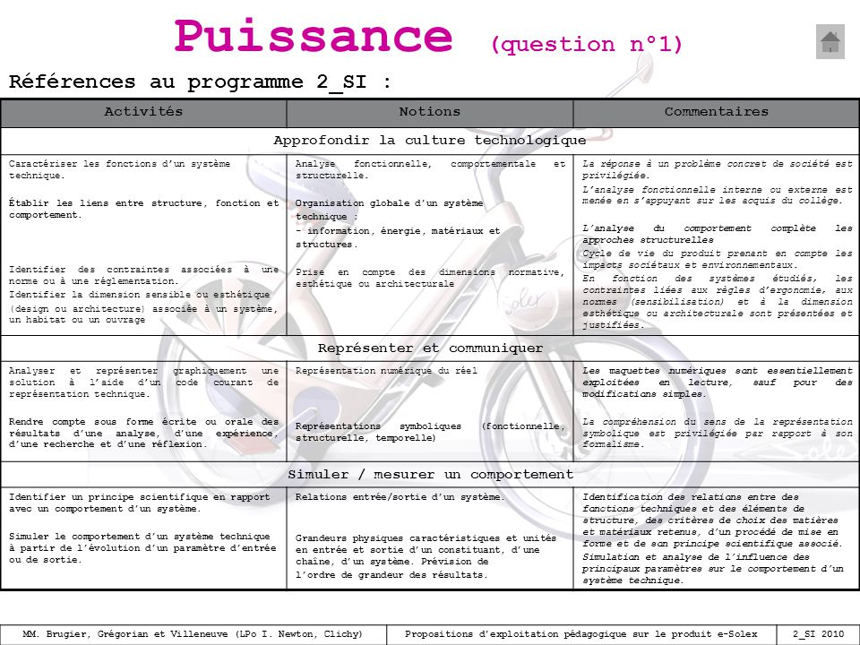 Puissance (question n°1)