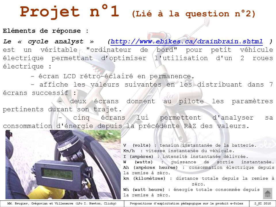 Projet n°1 (Lié à la question n°2)