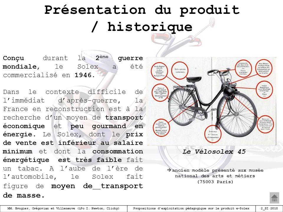 Présentation du produit / historique