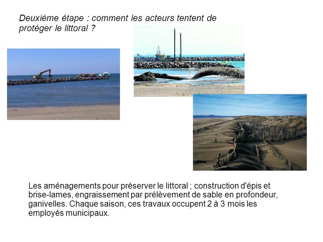 Deuxième étape : comment les acteurs tentent de protéger le littoral