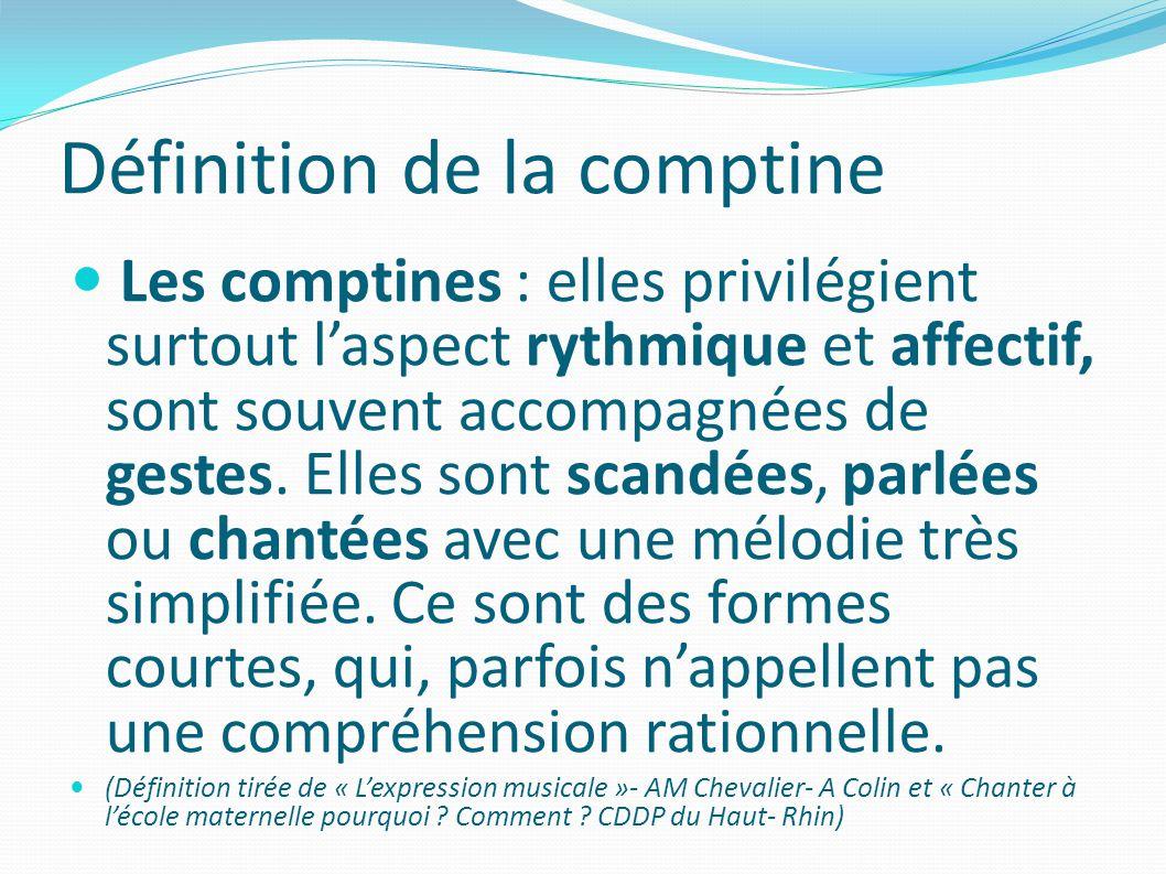 Définition de la comptine