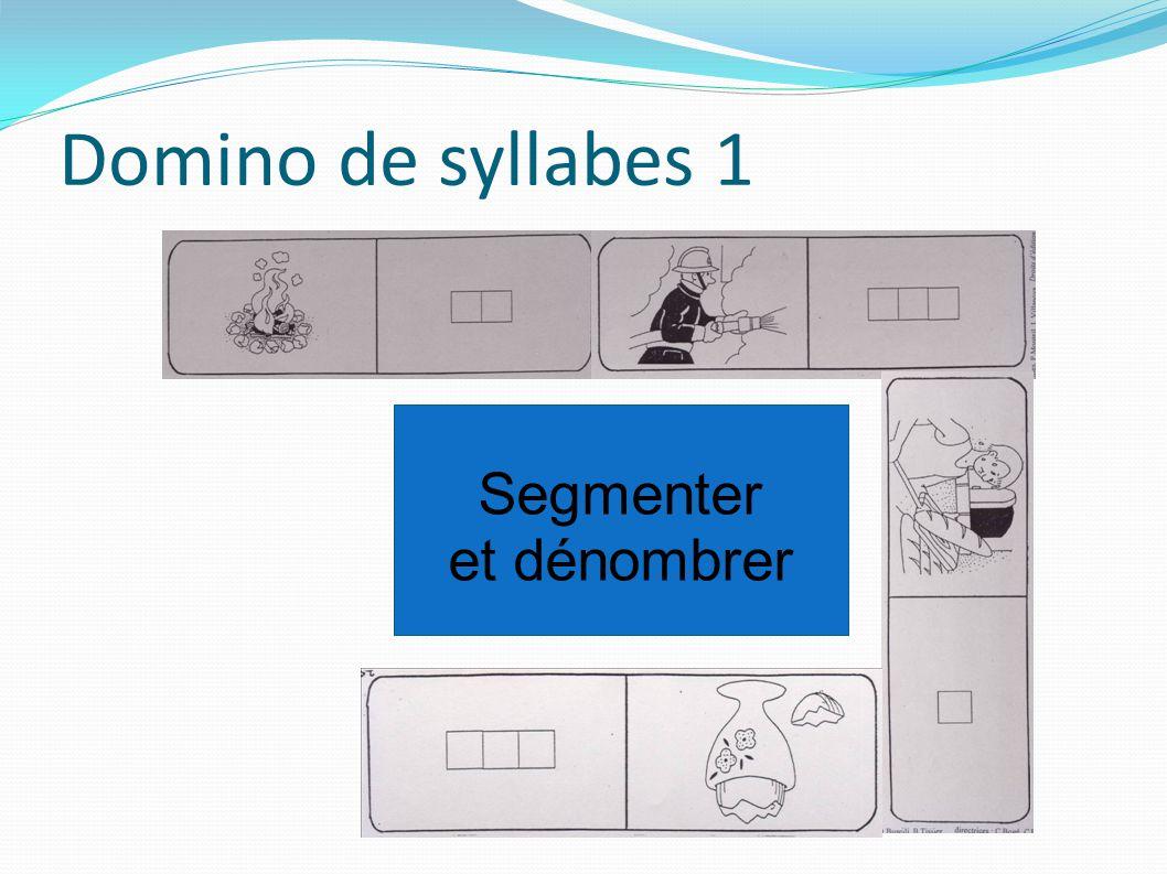 Domino de syllabes 1 Segmenter et dénombrer