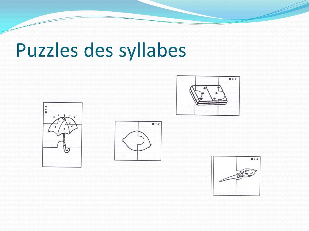 Puzzles des syllabes
